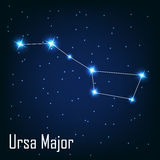 The constellation  Ursa Major star in the night Stock Images