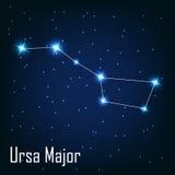 The constellation  Ursa Major star in the night. Sky. Vector illustration Stock Images