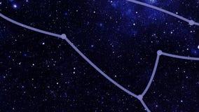 Constellation Ursa Major (UMa) banque de vidéos