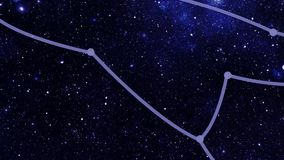 Constellation Ursa Major (UMa) stock footage