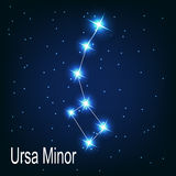 The constellation Ursa Minor star in the night stock illustration