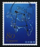 Constellation zodiac sign. RUSSIA KALININGRAD, 22 APRIL 2016: stamp printed by Japan shows constellation zodiac sign, circa 2012 royalty free stock image