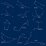 Constellation of the zodiac signs Royalty Free Stock Photo