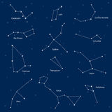 Constellations: cassiopeia, big dipper, cepheus, lyra, grus, cyg Stock Photo