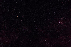 Constellations of Cassiopeia. And Cepheus in front of Milky Way stock photos