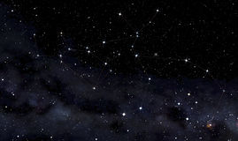 Constellations of Centaurus and Wolf Stock Photos