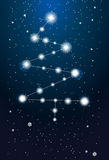 Constellations - christmas tree on the sky Stock Photo