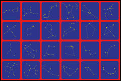 Constellations flat icons Royalty Free Stock Photos