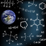 Constellations of formulas. Royalty Free Stock Image