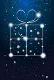 Constellations - gift box on the sky Stock Photo