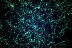 Constellations of lines and dots. On black royalty free stock images
