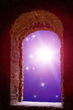 Constellations supernova ancient window Royalty Free Stock Photo