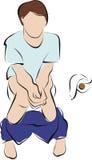 Constipatie of diarree of dubbelpuntkanker stock illustratie