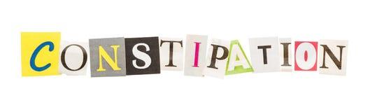 Constipatieinschrijving van verwijderde brieven Royalty-vrije Stock Afbeeldingen