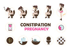 Constipation pregnancy Stock Image