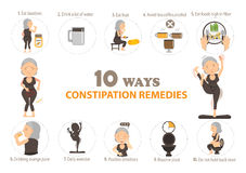 Constipation remedies Royalty Free Stock Images