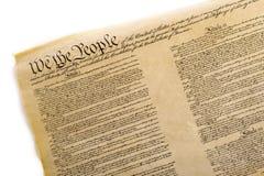 Constitución de Estados Unidos Fotografía de archivo libre de regalías