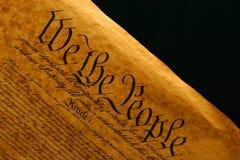 Constitución de Estados Unidos II Foto de archivo libre de regalías