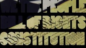 Constitución de la Declaración de Derechos - nosotros el concepto del gobierno y de la política de la gente metrajes