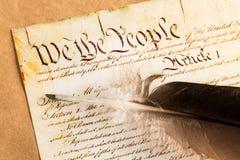 Constitución de los E.E.U.U. Imágenes de archivo libres de regalías