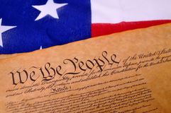 Constitución de los E.E.U.U. Imagen de archivo libre de regalías