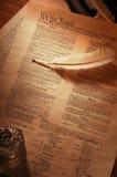 Constitución de los E.E.U.U. llena Foto de archivo