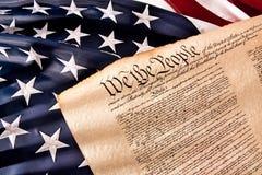 Constitución de los E.E.U.U. - nosotros la gente Imagen de archivo libre de regalías