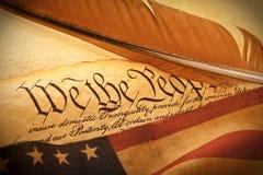 Constitución de los E.E.U.U. - nosotros la gente foto de archivo