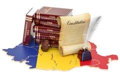 Constitución del concepto de Rumania, representación 3D stock de ilustración