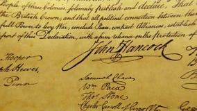 Constitución del documento histórico de Estados Unidos - nosotros la Declaración de Derechos de la gente almacen de video