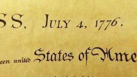 Constitución del documento histórico de Estados Unidos - nosotros la Declaración de Derechos de la gente metrajes
