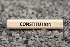 CONSTITUCIÓN - DESARREGLO - imagen con las palabras asociadas a la COMUNIDAD DE VALORES, palabra, imagen, ejemplo del tema Fotografía de archivo libre de regalías