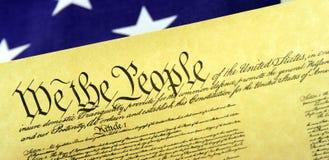 Constitución de Estados Unidos Foto de archivo libre de regalías