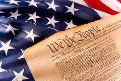 Constitución de los E.E.U.U. - nosotros la gente Foto de archivo libre de regalías