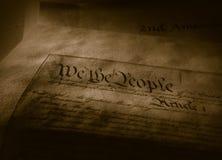 A constituição de Estados Unidos imagem de stock royalty free
