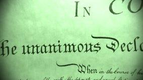 Constituição do original histórico do Estados Unidos - nós a Declaração de Direitos dos povos vídeos de arquivo