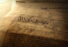 A constituição dos E.U. fotos de stock royalty free