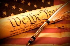 Constituição dos E.U. - nós os povos fotografia de stock