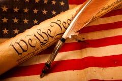 Constituição dos E.U. - nós os povos Imagens de Stock