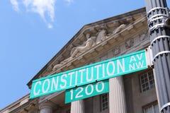 Constitution Avenue Stock Photo