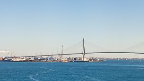 The Constitution of 1812 Bridge. In the Spanish city of Cadiz.  The bridge is also known as La Pepa Bridge Stock Photos