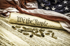 Constitution and bullets royalty free stock photography