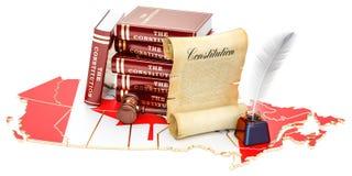 Constitution of Canada concept, 3D rendering. Constitution of Canada concept, 3D Stock Image