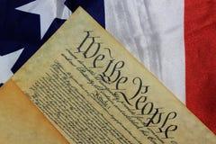 Constitution d'Etats-Unis de document historique photos libres de droits