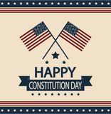 Constitution day. Card or background. vector illustration royalty free illustration