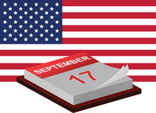 Constitution Day and Citizenship Day. In USA - 17 of September Vector Illustration