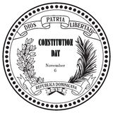 Constitution Day Dominican Republic Royalty Free Stock Image