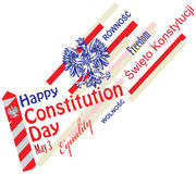 Constitution Day in Poland Royalty Free Stock Photo