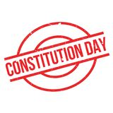 Constitution Day rubber stamp Royalty Free Stock Photo