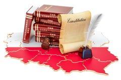 Constitution de concept de la Pologne, rendu 3D illustration stock